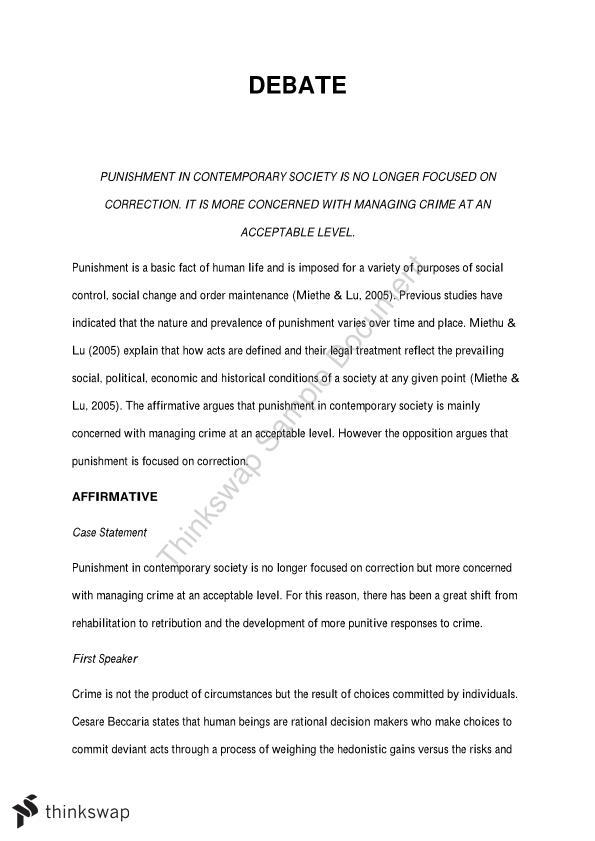 3006CCJ. Punishment, Justice & Reform Essay | 3006CCJ - Punishment ...