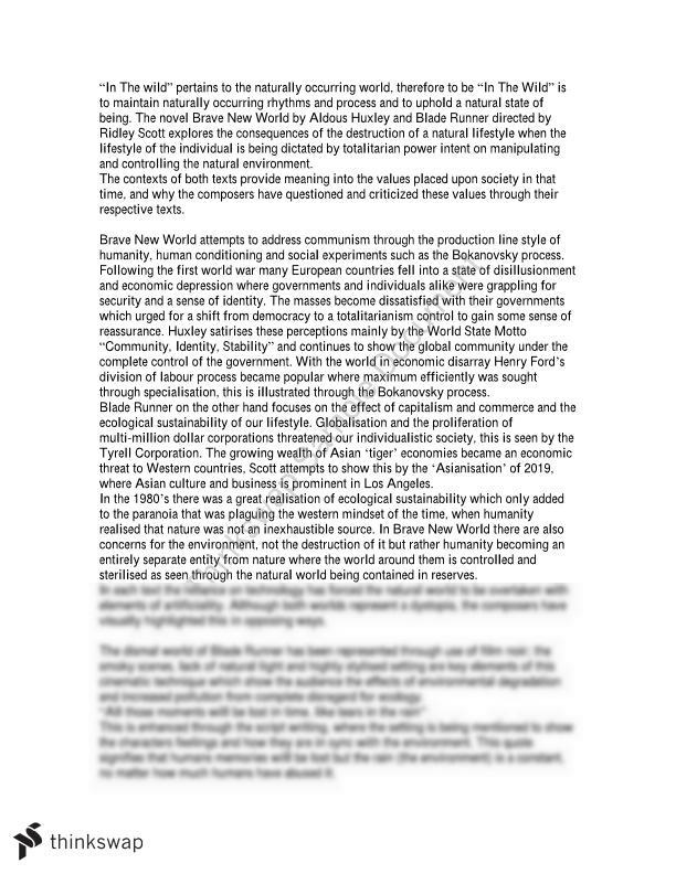 Essay Bladerunner And Brave New World  Year  Hsc  English  Essay Bladerunner And Brave New World Synthesis Essay Prompt also Write My Business Plan Australia  Writing Essay Papers