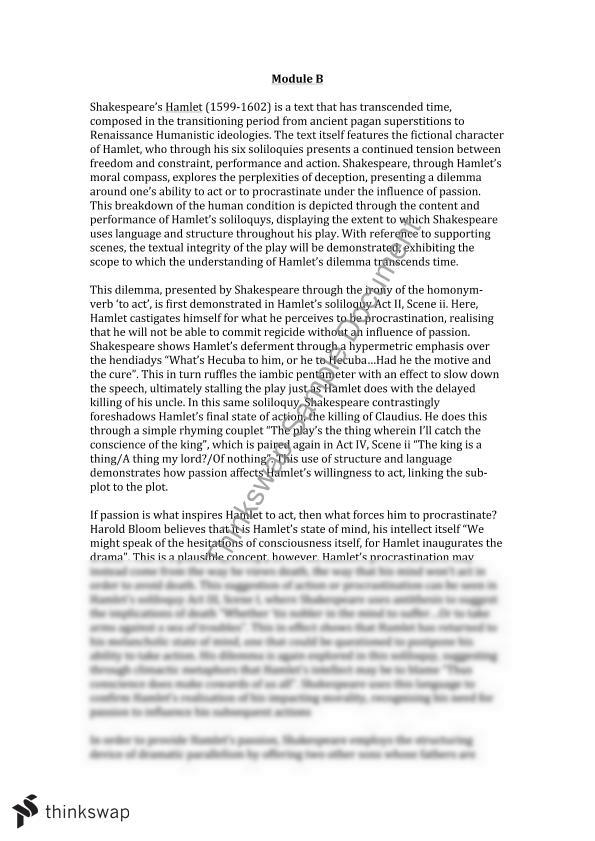 hamlet act 1 essay example Hamlet study guide contains a biography of william shakespeare, literature essays, a complete e-text, quiz questions, major themes, characters, and a hamlet essays are academic essays for citation these papers were written primarily by students and provide critical analysis of hamlet by william.