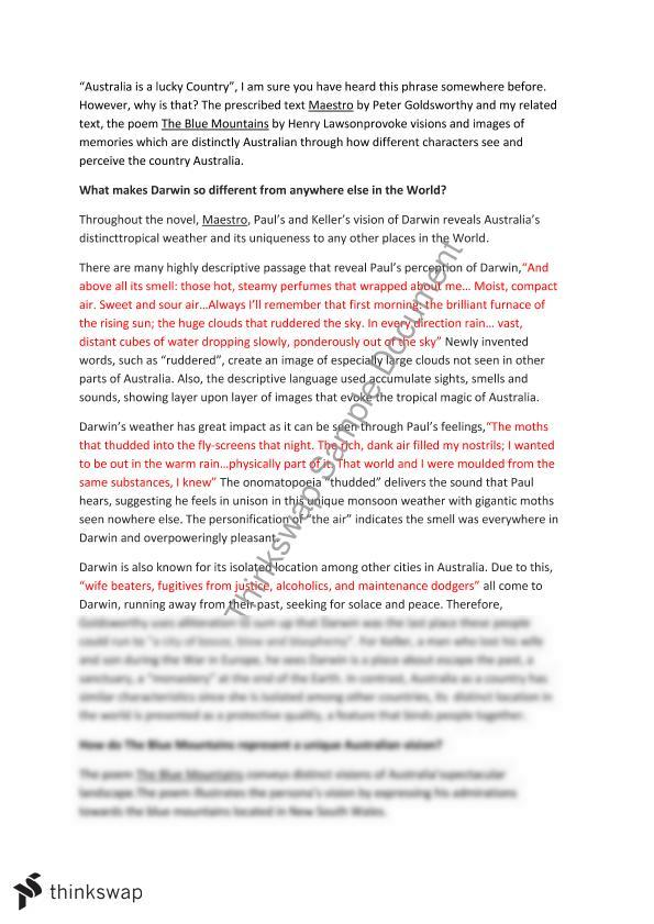 Hsc esl belonging essay