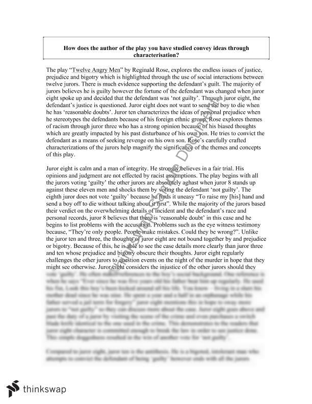 "essay 12 angry men Twelve angry men by reginald rose the interaction of the ""12 angry men"" see other notes and essays on 12 angry men and see literary devices."