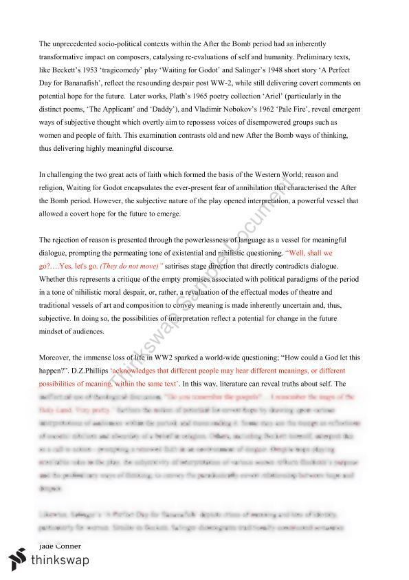Extension English Essay 25/25   Year 12 HSC - English (Extension 1
