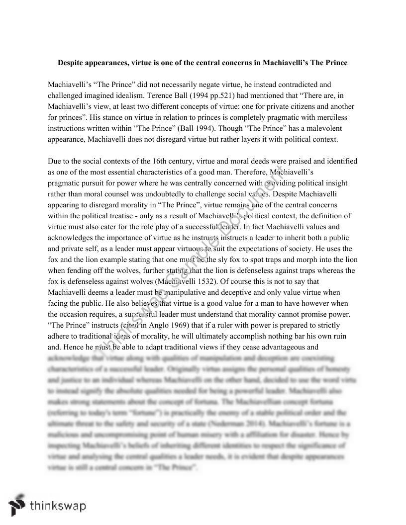 Writing Services Business Pol  Machiavelli Essay Custom Writing Service also Reflection Paper Example Essays Pol  Machiavelli Essay  Pol  Thinking Politically  Thinkswap Custom Essay Paper