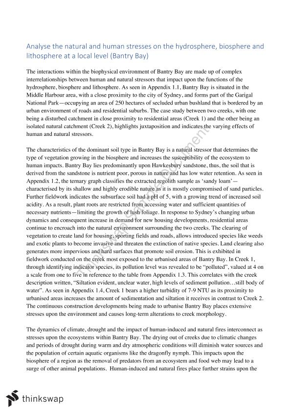 Advanced English Essays Full Marks Preliminary Geography Essay On Biophysical Interactions Analyse  The Natural And Human Stresses On The Thesis For Argumentative Essay Examples also Essay Vs Research Paper Full Marks Preliminary Geography Essay On Biophysical Interactions  Essay Thesis Statements