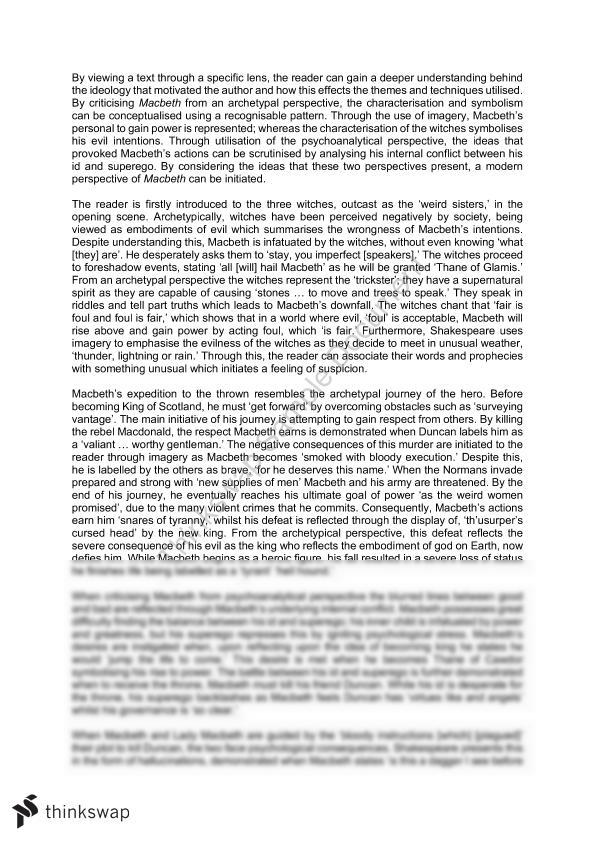 macbeth psychoanalysis essay