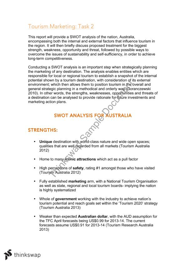 swot analysis on spain tourism Booming tourism and capital inflows in dubai brings in a  the swot analysis indicates that the difc should leverage its  (spanish ) 商業周刊.