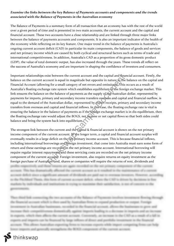 Essay balance of payment global history regents thematic essay