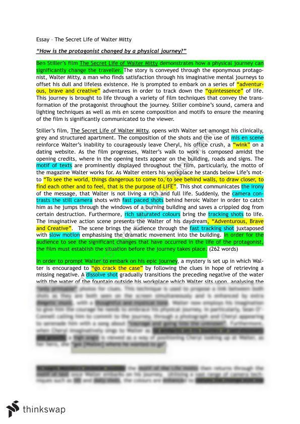 the Secret Life of Walter Mitty Free Essay Example