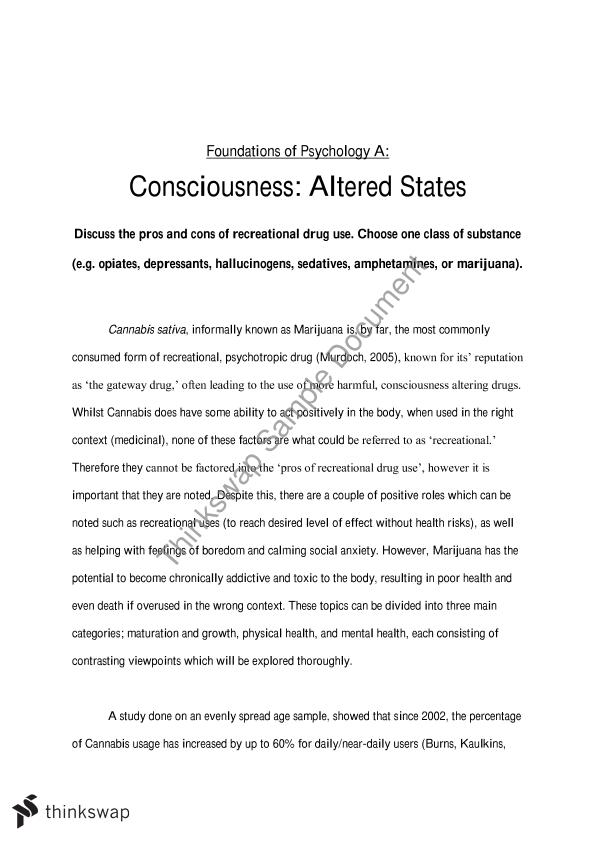 Modern Science Essay Cannabis Essay Outline For Argumentative Research Paper On Cannabis Should  Be Legalised For Medical Reasons As Example Of A Thesis Essay also Thesis Statements Examples For Argumentative Essays Essay Example On The History Of Psychology Legalisation Of Cannabis  Compare And Contrast Essay About High School And College