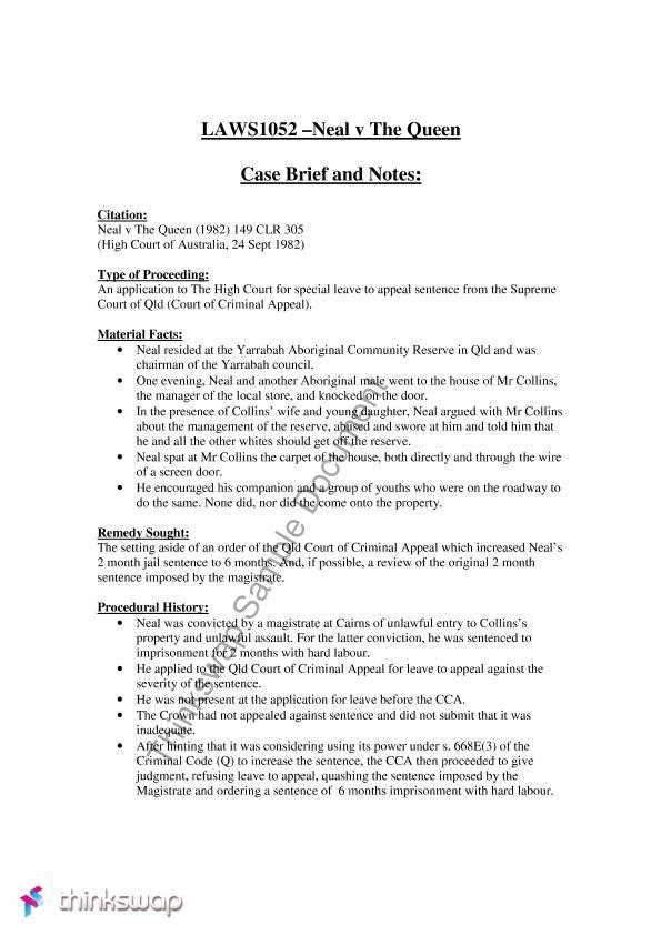legal case analysis example
