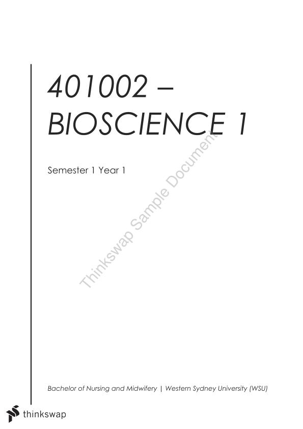 401002 - Bioscience Complete Summary Notes