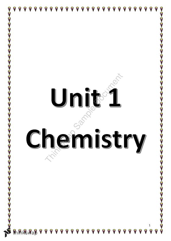 Unit 1 Chemistry Notes