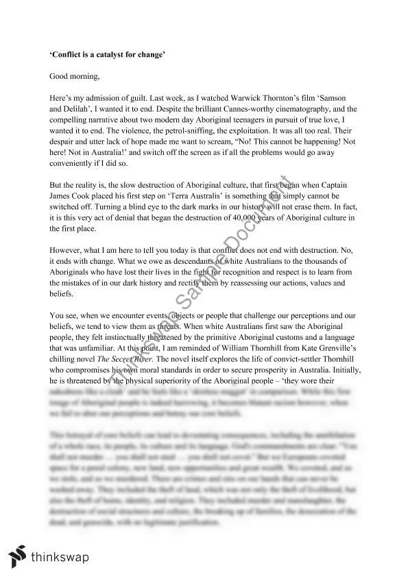 Essay About Health Essay Conflict Conflict Is A Catalyst For Change Encountering  Thesis Statement In An Essay also High School Essays Examples Essays On Conflict  Underfontanacountryinncom Example Of Essay Proposal