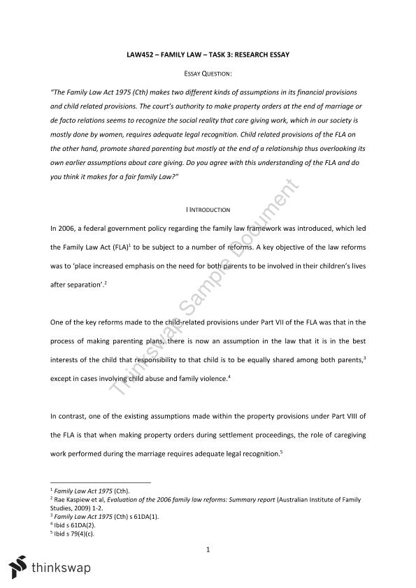 family law research paper