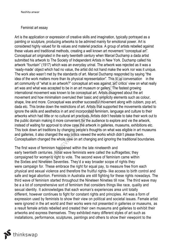 Feminist essay