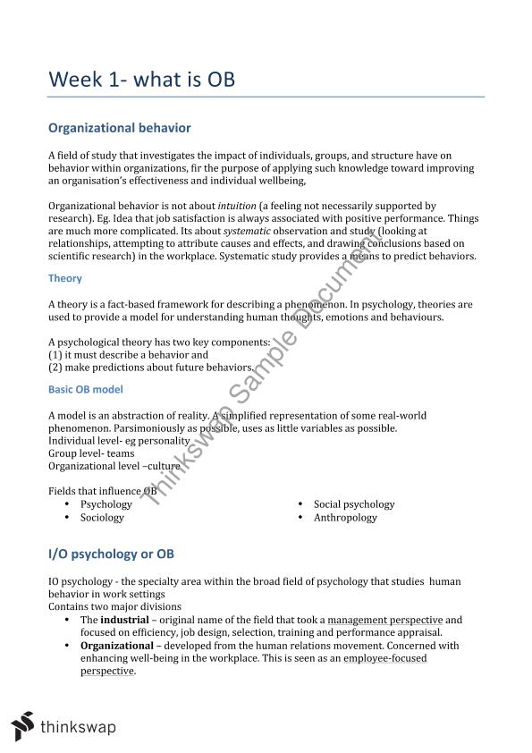 organizational behaviour study notes semester part Hrm lecture notes for pu, mba 2nd semester  of hrp • hrp is the process of determining an organization's hr needs - decenzo &robbins  type part one: (only .