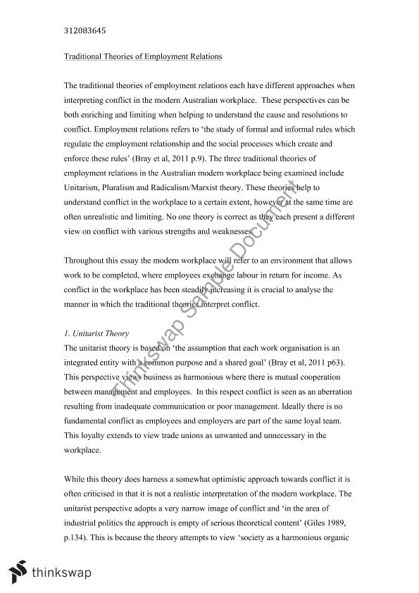 employee relations trade unions essay Read this essay on employee relations there is complicate and compelling area of study which involves relationships with employees, employers, trade unions and.