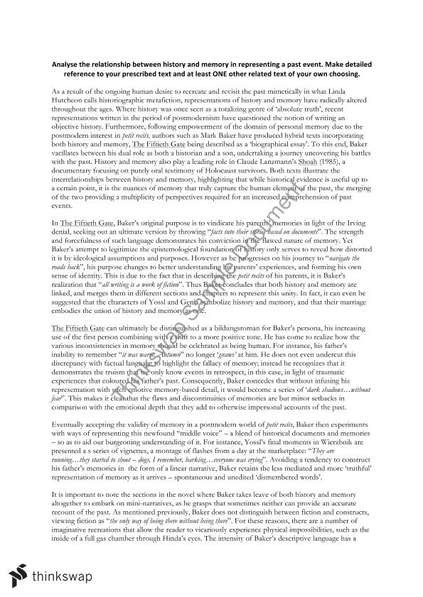 history and memory essay the fiftieth gate year hsc english history and memory essay the fiftieth gate