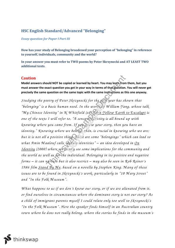 past hsc creative writing questions belonging Past hsc belonging creative writing stimulus, assignment on going concern in accounting, first step in writing a business plan, 123 help my essay, help with writing a.