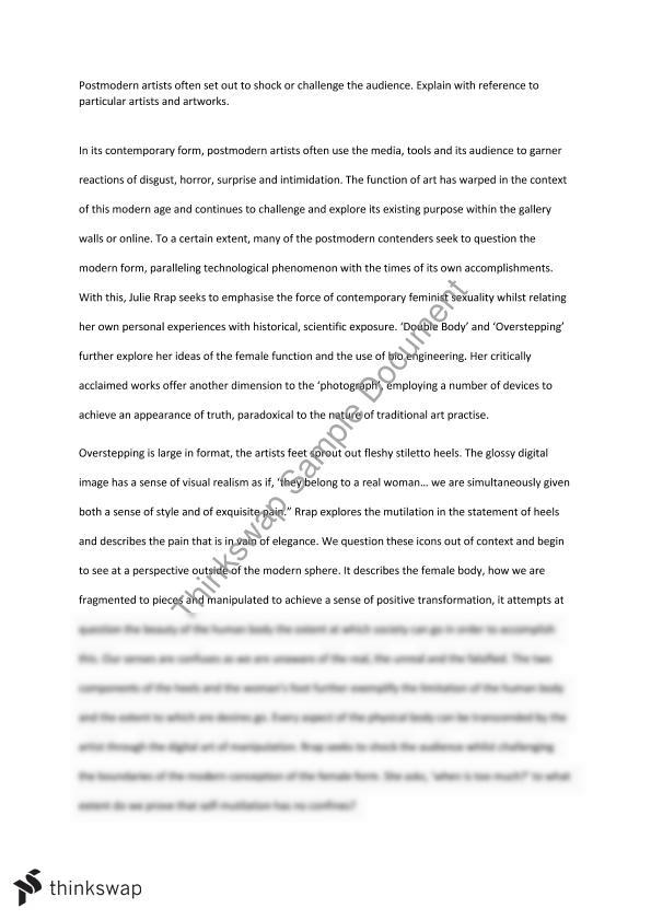 feminism and postmodernism essay julie rrap year hsc  feminism and postmodernism essay julie rrap