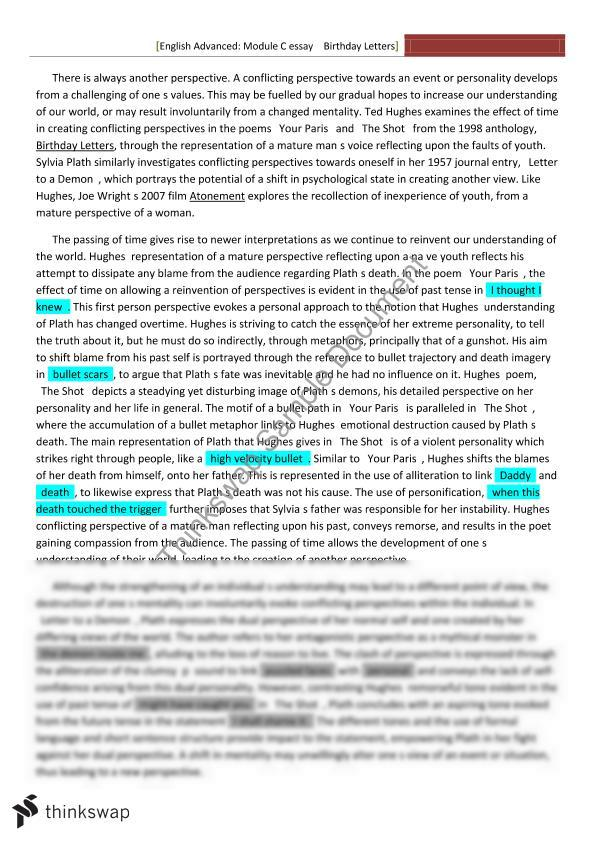 mod a essay hsc Advanced english module c: representation and text context for a hsc english essay: you have probably been wondering about how to use context for a hsc english essay.