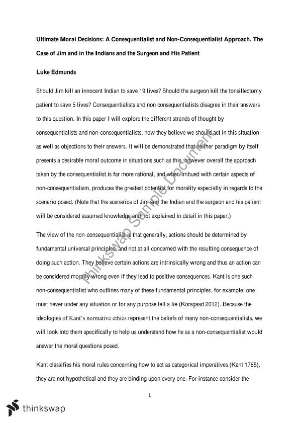 ethics major essay consequentialist and non consequentialist ethics major essay consequentialist and non consequentialist approaches to moral dillemmas