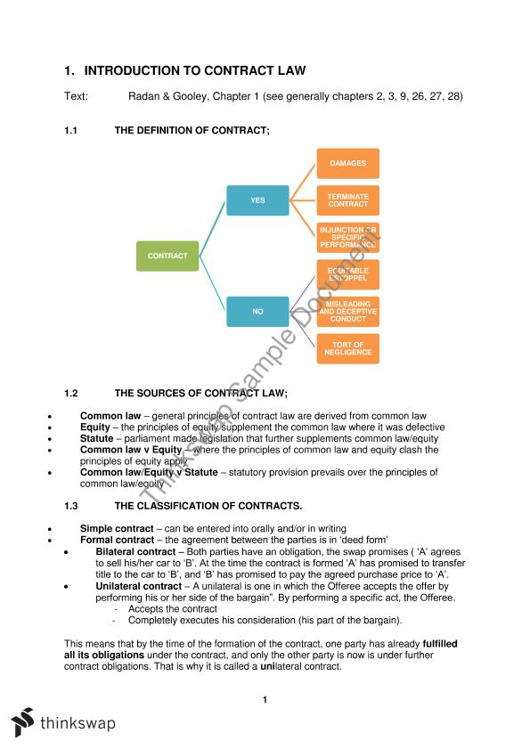 consideration contract law notes