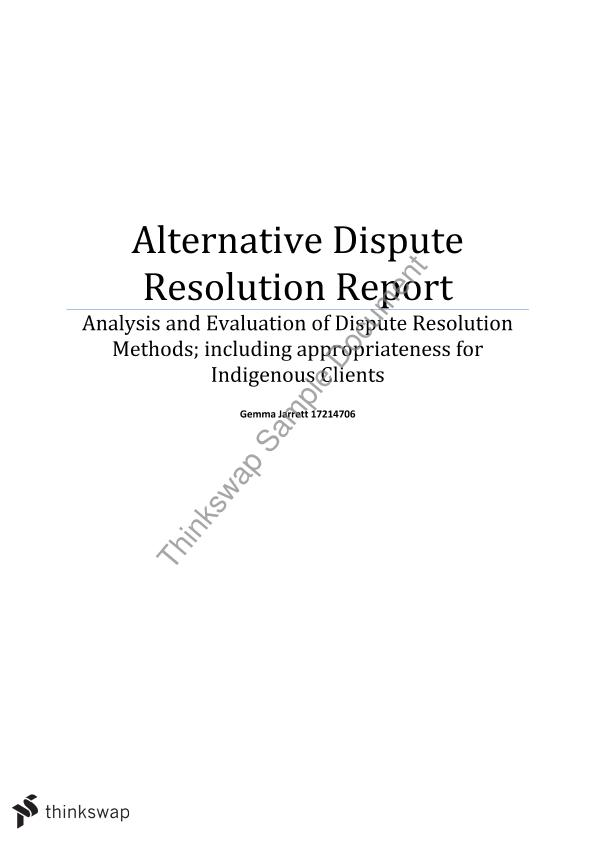analysis alternative dispute resolution Conflict analysis and resolution, phd s-car's renowned phd program provides you an opportunity to become a professional scholar practitioner you will apply the.