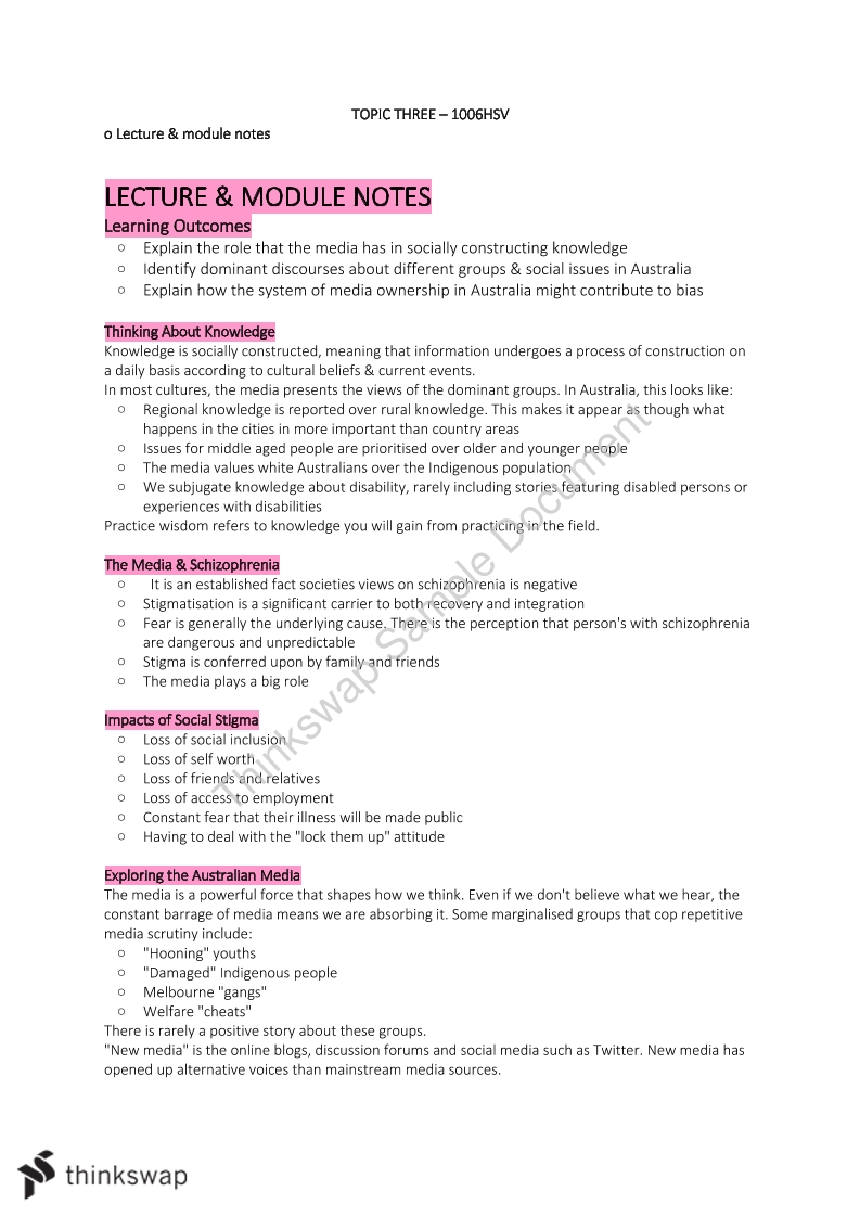 Topic 3, 4 & 5 Detailed Study Notes