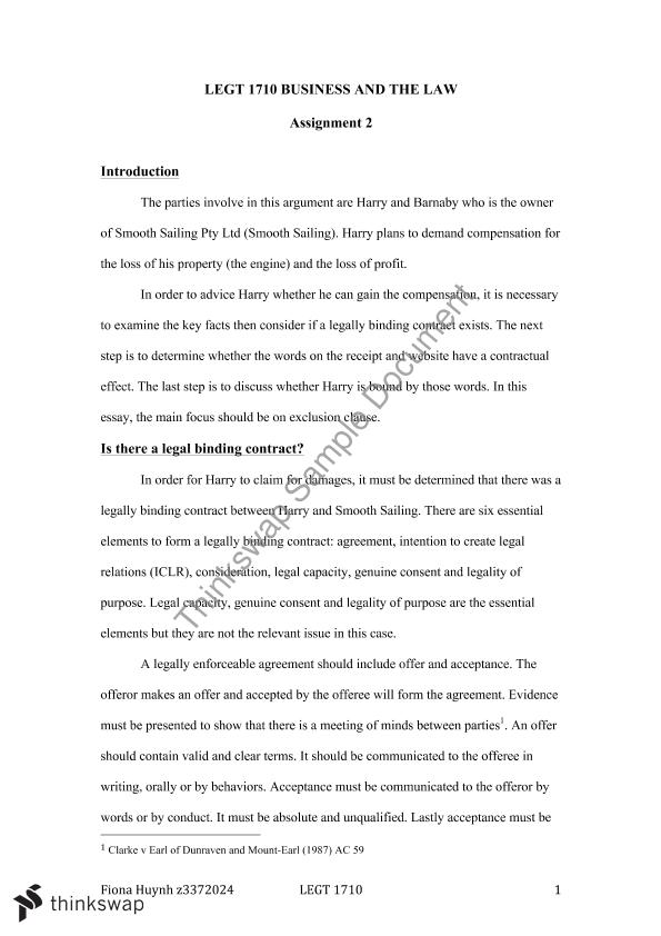business law essay   tabl  business and the law  thinkswap business law essay