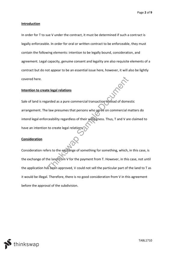 Land Law Essay Some Contract And Land Law Issues Some Contract