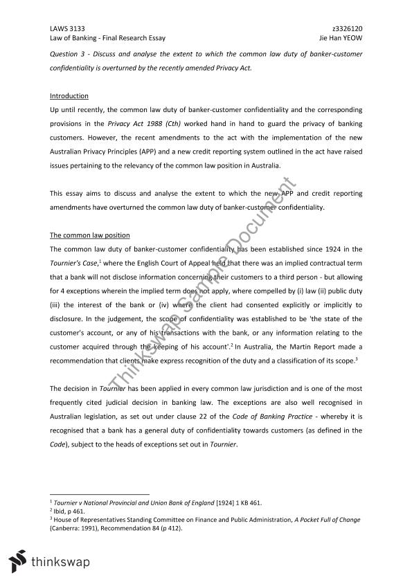 Essays On Soccer Law Of Banking Research Essay Essays On Children also Arranged Marriages Essay Law Of Banking Research Essay  Laws  Law Of Banking  Thinkswap Writing Essays For Dummies