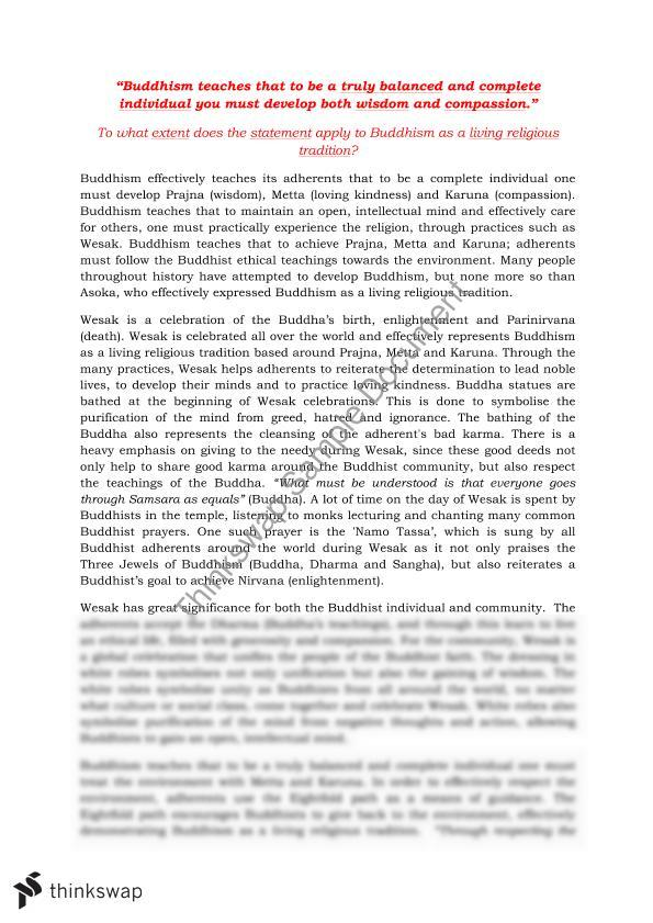 buddhism essay year hsc studies of religion ii thinkswap buddhism essay