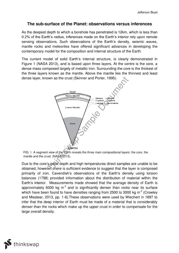 Essay #2 - Earth's Internal Structure