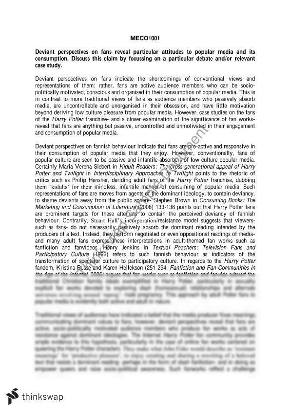 media consumption essay