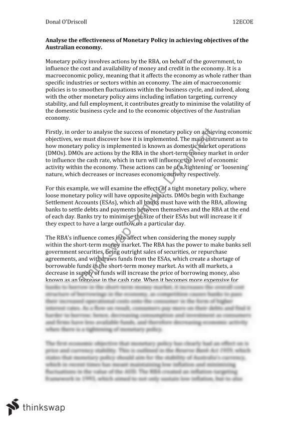 monetary standard essay Monetary policy research essay examples monetary policy essay a standard unit in which prices can be stated and the value of goods and services can be.
