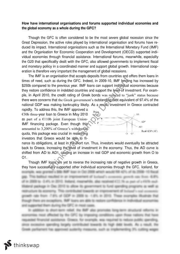 international economics essay