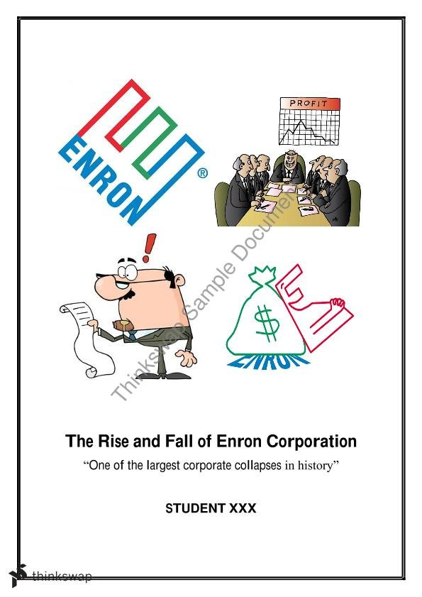 enron corporation 2 essay Enron scandal fraud print this is a 6-page essay discussing ethics those persons within the enron corporation who chose not to conduct themselves in an.