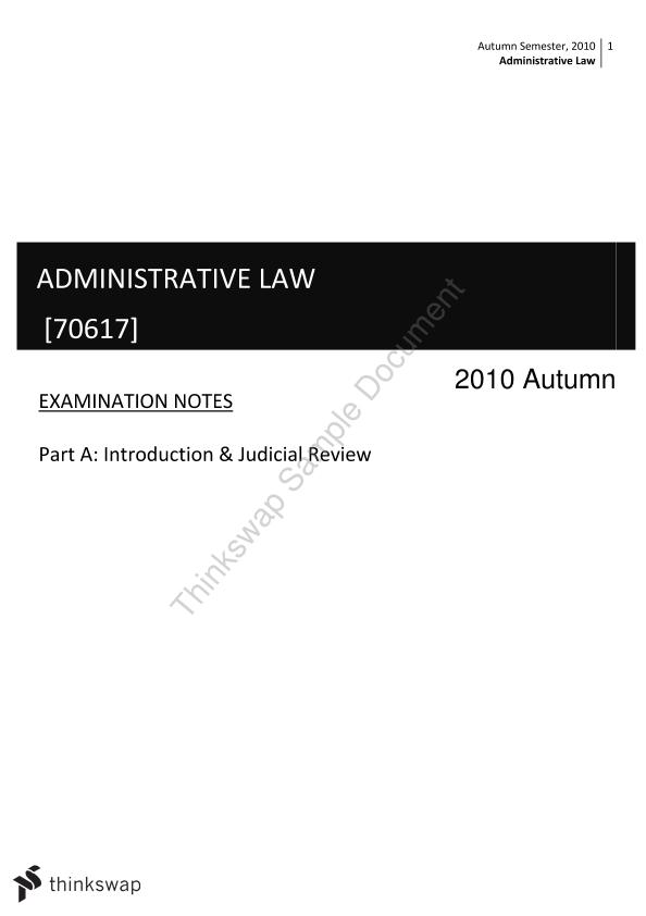 Administrative Law Notes Part A