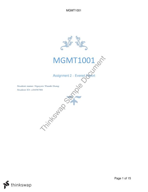 mgmt1001 assignment 1