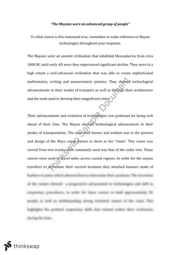Library Essay In English The Mayan Civilisation  Technolgy My First Day Of High School Essay also Sample English Essays The Mayan Civilisation  Technolgy  Year  Hsc  Ancient History  English Debate Essay