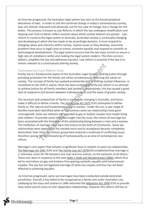 contemporary law reform essay year hsc legal studies contemporary law reform essay