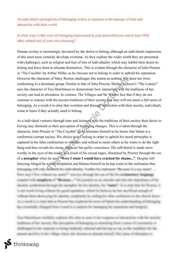 the lottery ticket essay analysis Thematic essay: the lottery ticket thematic essay: the lottery ticket by anton chekhov the role of setting in the lottery ticket the lottery ticket analysis.