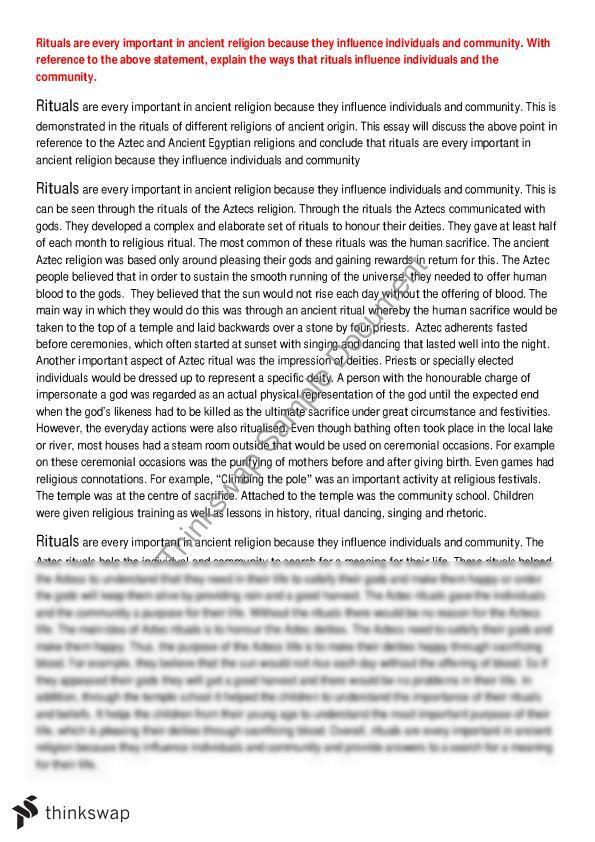 Argumentative Essay Topics High School Rituals Essay About The Aztec Religion Locavore Synthesis Essay also Persuasive Essay Example High School Rituals Essay About The Aztec Religion  Year  Hsc  Studies Of  High School Application Essay Samples