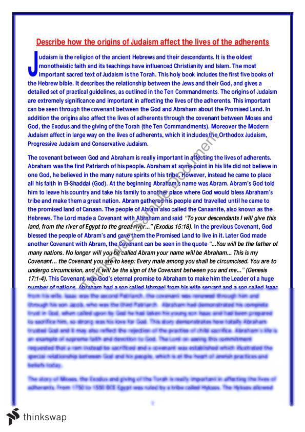 judaism essay hsc Work samples aligned to grades assist teachers to have a clear understanding of  the standards at each grade level teachers can use this information to assist.