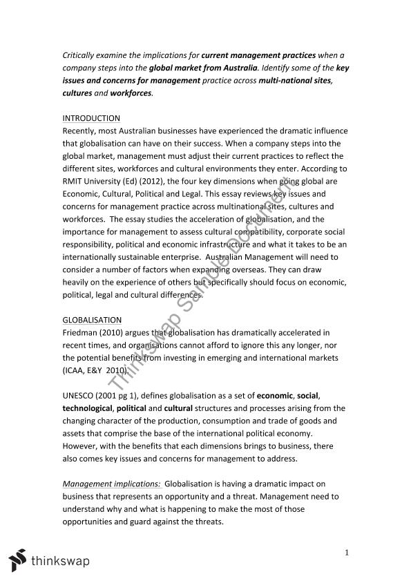 globalisation essay assignment busm introduction to globalisation essay assignment 1