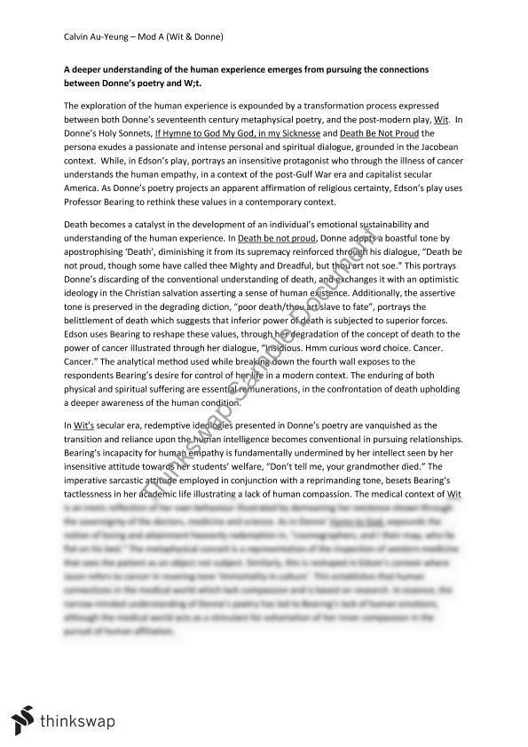 essay example on john donne