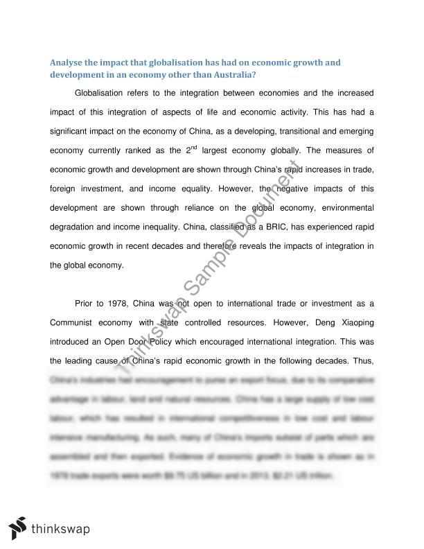 Essay On China's Economic Development - image 7
