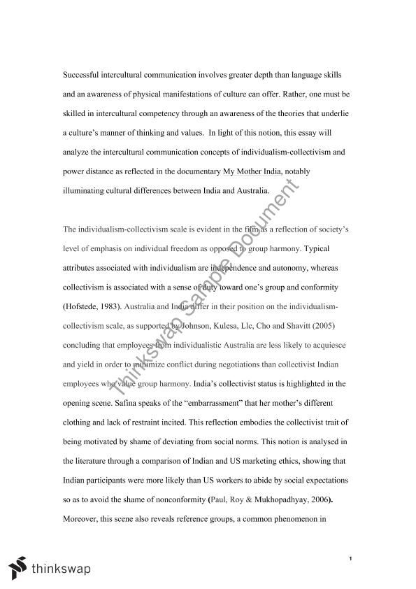 Reflective Essay On My Mother India  Comu  Identity Culture  Reflective Essay On My Mother India How To Start A Business Essay also Professional Writing Services Naples Fl  George Washington Essay Paper