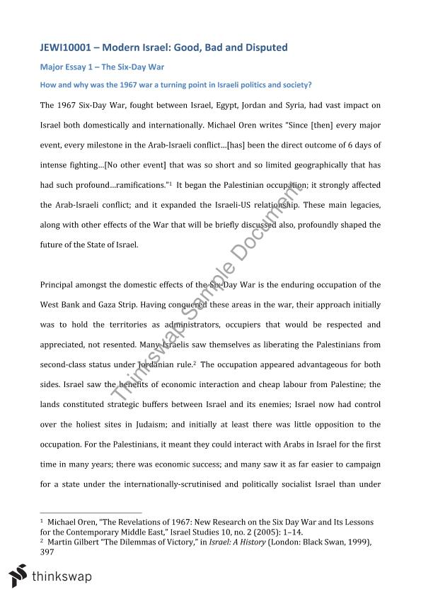 Essay About English Class The Sixday War As A Turning Point For Israel Apa Essay Papers also How To Start A Synthesis Essay The Sixday War As A Turning Point For Israel  Jewi  Modern  Diwali Essay In English